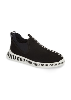 Miu Miu Logo Slip-On Sneaker (Women)
