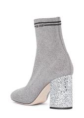 Miu Miu Logo Sock Bootie (Women)