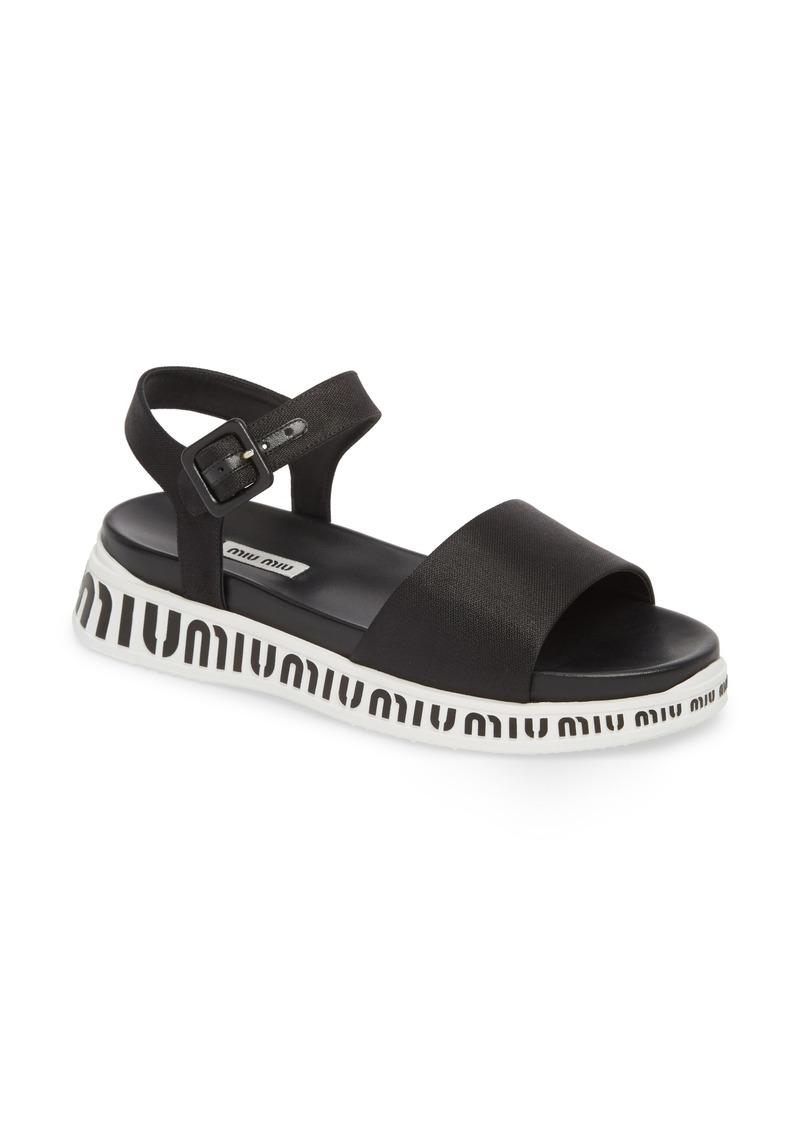 77a5e9568166 Miu Miu Miu Miu Logo Strap Platform Sandal (Women)
