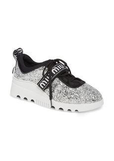 Miu Miu Logo Strap Platform Sneaker (Women)