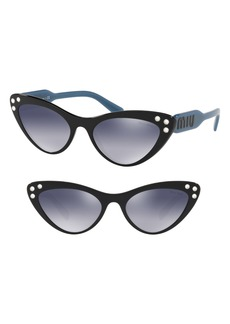 Miu Miu Logomania 55mm Cat Eye Sunglasses
