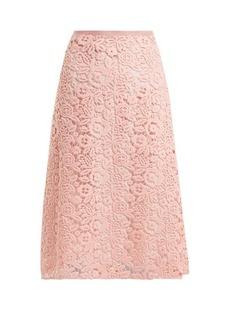 Miu Miu Macramé-lace A-line skirt