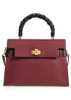 Miu Miu Madras Click Goatskin Leather Satchel
