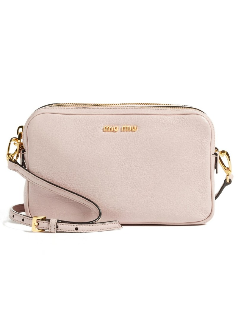 Miu Miu Miu Miu  Madras  Goatskin Leather Crossbody Bag  2ccbe6dc49aec