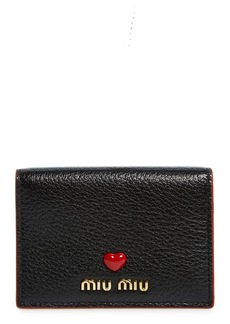 Miu Miu Madras Love Leather French Wallet