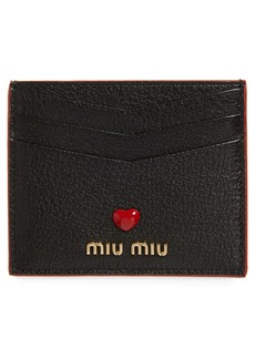 Miu Miu Madres Love Leather Card Holder