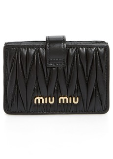 Miu Miu Matelassé Accordion Card Case