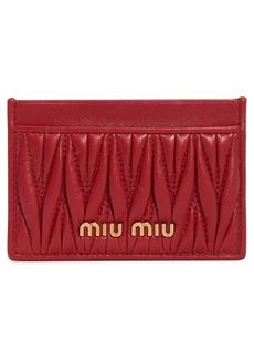 Miu Miu Matelassè Card Case