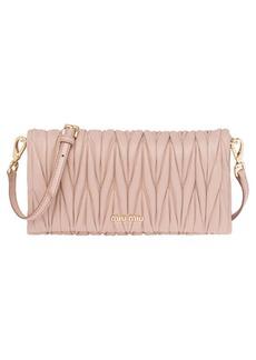 Miu Miu Matelassé Flap Crossbody Bag