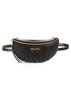 Miu Miu Matelassé Lambskin Leather Belt Bag