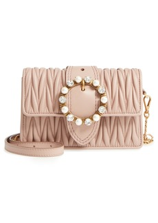 Miu Miu Matelassé Lambskin Leather Crossbody Clutch