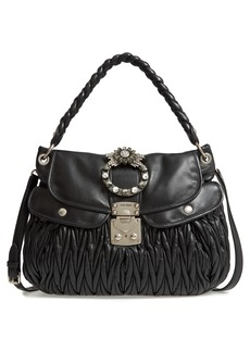 Miu Miu Matelassé Lambskin Leather Shoulder Bag