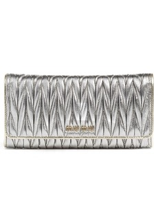 Miu Miu Matelassé Leather Continental Wallet
