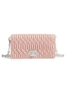 Miu Miu Matelassé Leather Wallet on a Chain