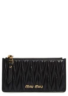 Miu Miu Matelassé Leather Zip Card Case
