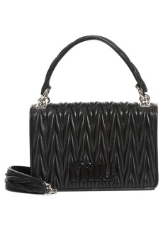 Miu Miu Matelassé Quilted Lambskin Leather Top Handle Bag