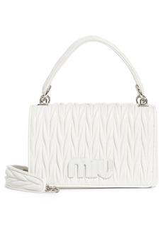 Miu Miu Matelassé Quilted Lambskin Leather Top Handle Bag