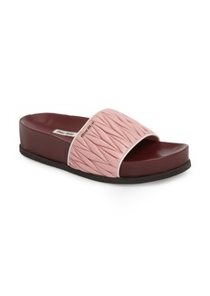 Miu Miu Matelassé Slide Sandal (Women)