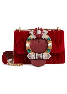 Miu Miu Matelassé Velvet Crossbody Bag