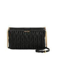 Miu Miu Matelasse Leather Clutch/Crossbody Bag