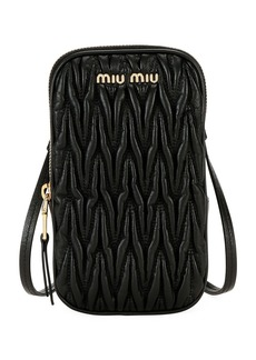 Miu Miu Matelasse Phone Crossbody Bag