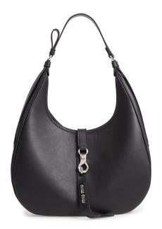 Miu Miu Medium Grace Lux Calfskin Leather Hobo