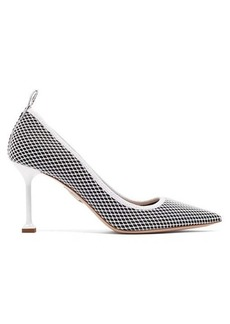 Miu Miu Mesh & patent-leather pumps
