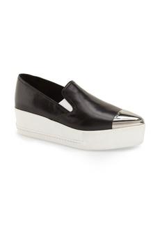 Miu Miu Metal Cap Toe Platform Sneaker (Women)