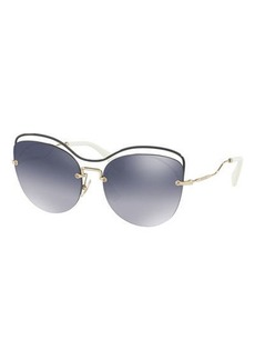 Miu Miu Metal Mirrored Butterfly Sunglasses