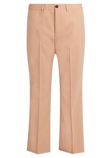 Miu Miu Mid-rise kick-flare gabardine trousers