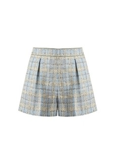 Miu Miu Mid-rise wool-blend tweed shorts