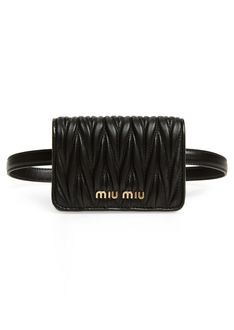 Miu Miu Mini Matelassé Leather Belt Bag