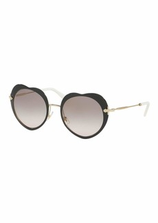 Miu Miu Mirrored Heart Sunglasses