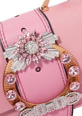 8a20c42af6ae ... Miu Miu Miu Lady embellished smooth and textured-leather shoulder bag  ...