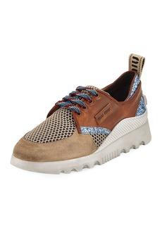 Miu Miu Mixed Platform Sneakers