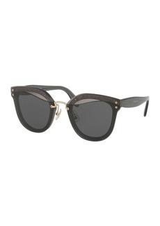 Miu Miu Monochromatic Butterfly Sunglasses