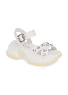 Miu Miu Monstar Crystal Studded Sandal (Women)