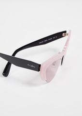 44a4e2a40be9 Miu Miu Miu Miu Narrow Cat Eye Sunglasses
