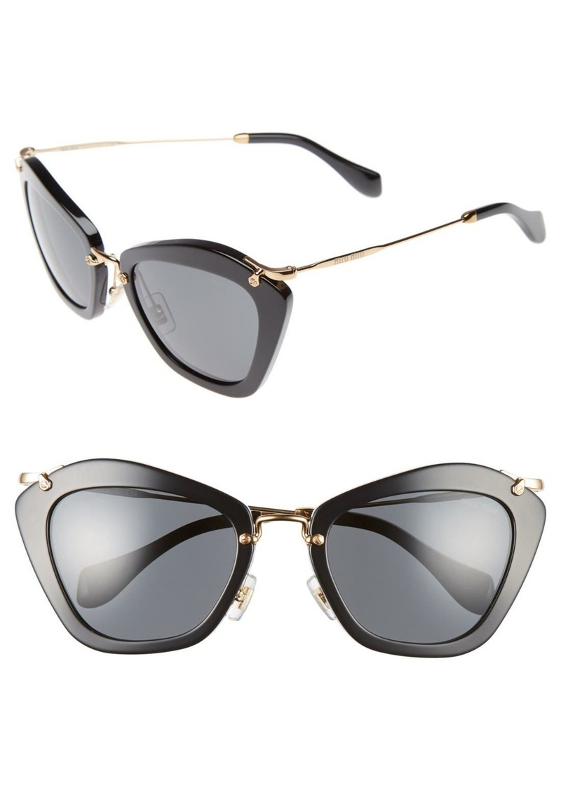 88aa8d49e64 Miu Miu Miu Miu Noir 55mm Cat Eye Sunglasses