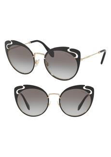 Miu Miu Noir Evolution 54mm Cat Eye Sunglasses