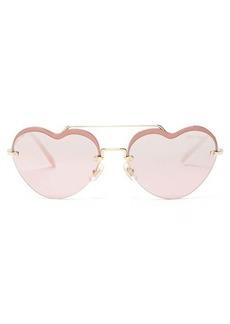 Miu Miu Noir heart-shaped metal sunglasses