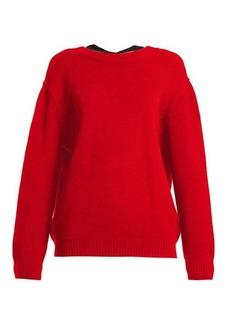 Miu Miu Open-back cashmere sweater