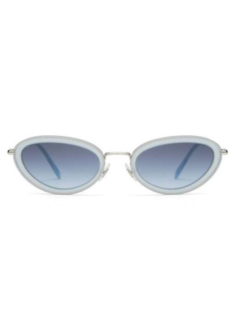 Miu Miu Oval cat-eye acetate-frame sunglasses