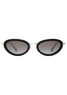 Miu Miu Oval cat-eye acetate-frame sunglasses