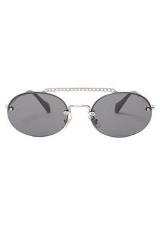 Miu Miu Oval-shaped rimless sunglasses