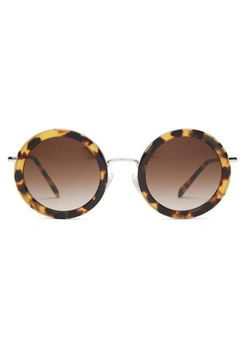 Miu Miu Oversized round-frame acetate sunglasses