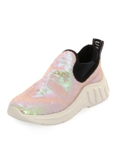 Miu Miu Paillettes Chunky Slip-On Sneakers