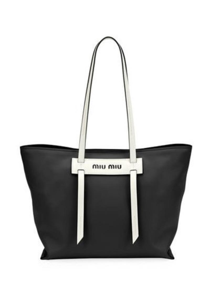 f897e4c6e485 Miu Miu Patch Small Grace Lux Tote Bag