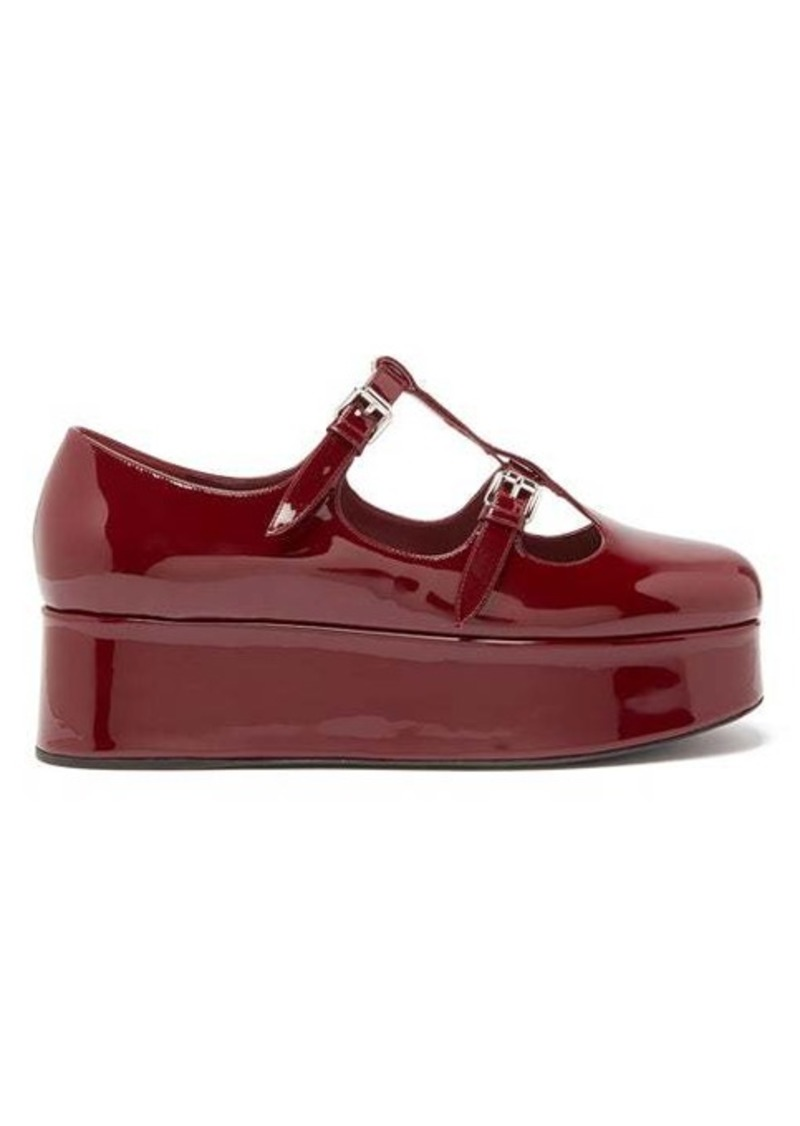 Miu Miu Patent-leather Mary-Jane flatforms