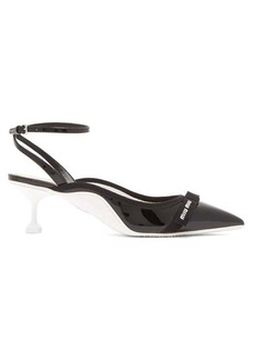 Miu Miu Patent-leather slingback pumps